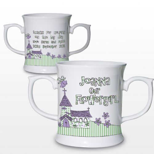 Personalised Whimsical Church Wedding Loving Mug